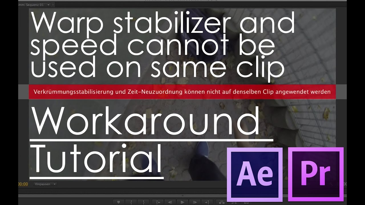 after effects warp stabilizer tutorial