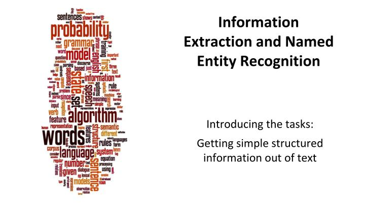 named entity recognition tutorial
