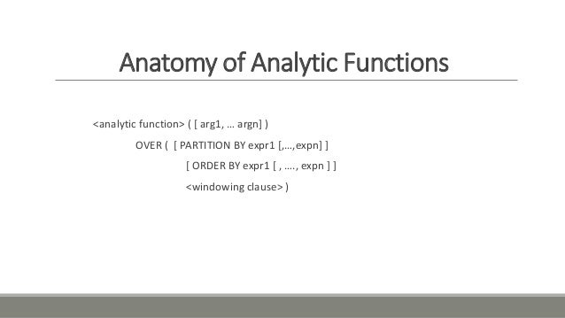 sql analytic functions tutorial