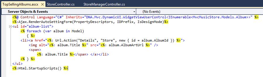asp net mvc music store tutorial