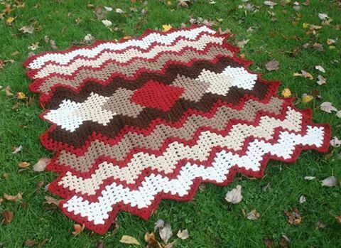 drop in the pond afghan tutorial