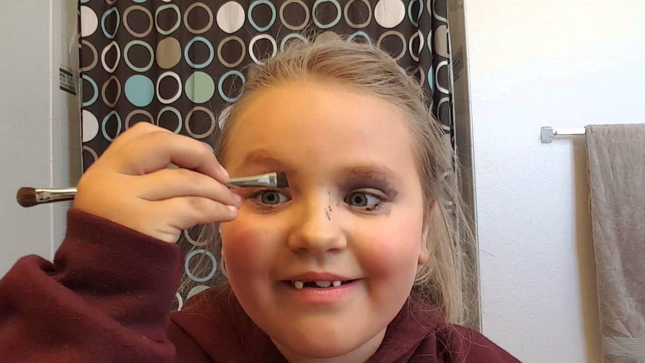 little girl makeup tutorial fail