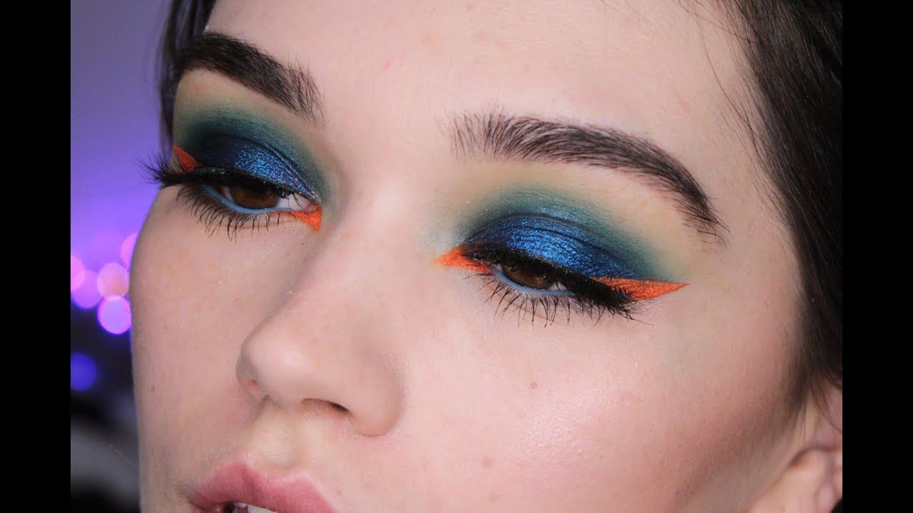 blue green eye makeup tutorial