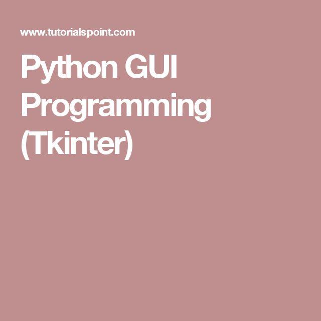 python gui tutorial pdf