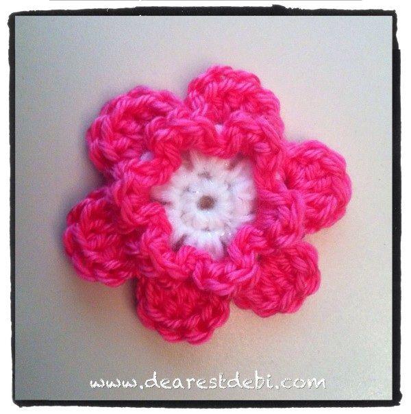 simple crochet flower tutorial
