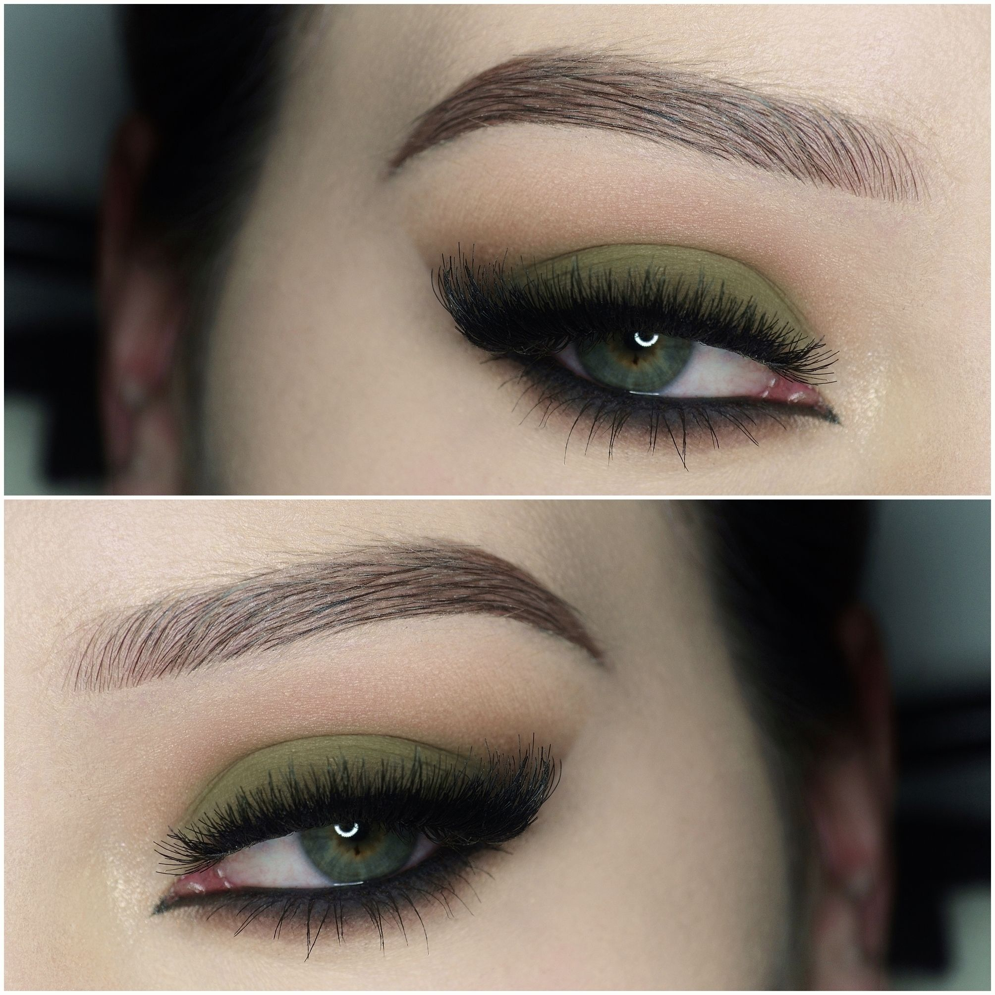 green eyeshadow makeup tutorial
