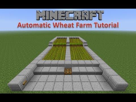 minecraft automatic wheat farm tutorial