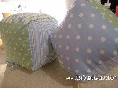 fabric baby blocks tutorial