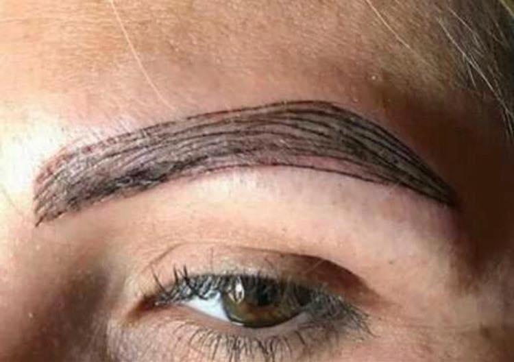 eyebrow tutorial gone wrong