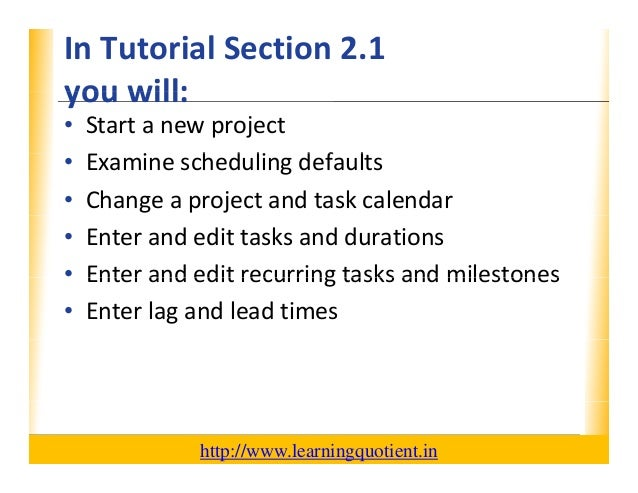 ms project 2010 video tutorial