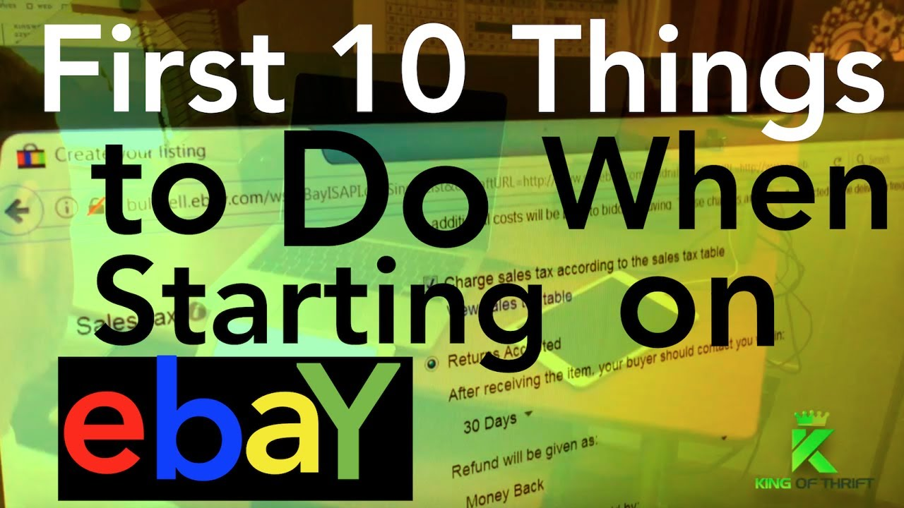 start selling on ebay tutorial