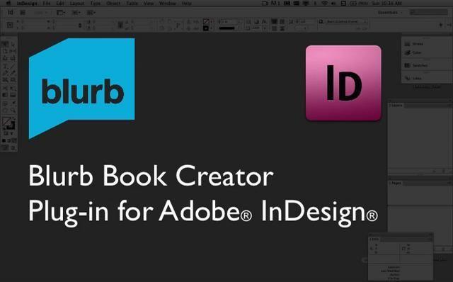 blurb indesign plugin tutorial