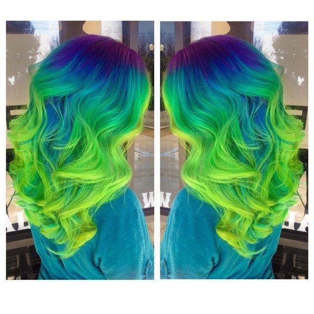 green ombre hair tutorial