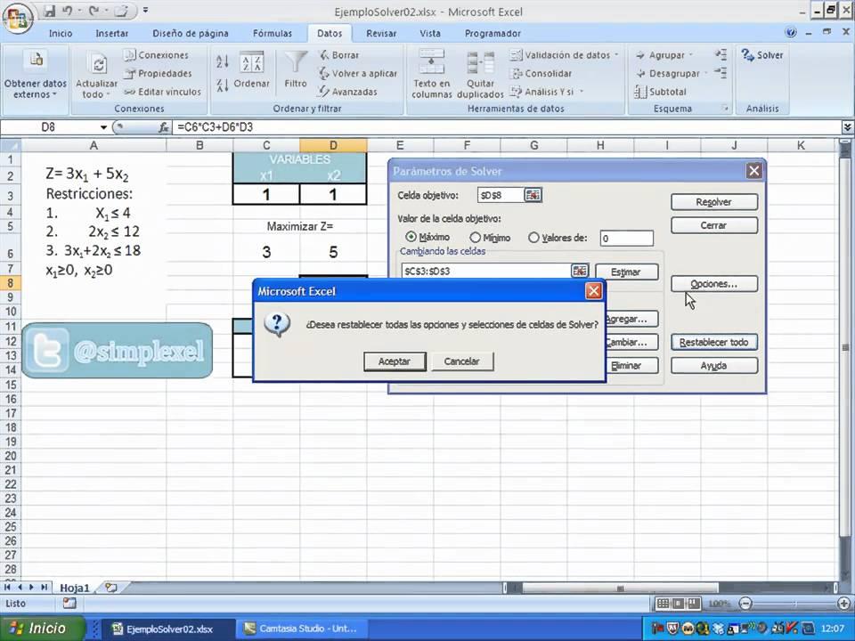 tutorial solver excel 2010