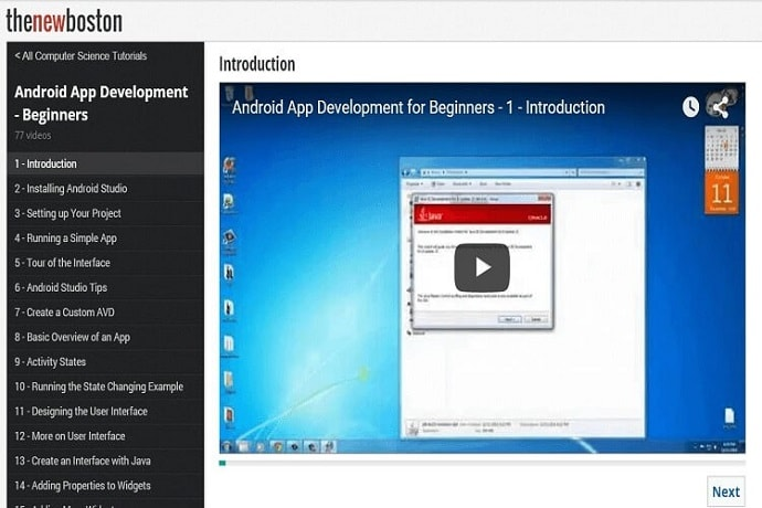 android application development video tutorial for beginners