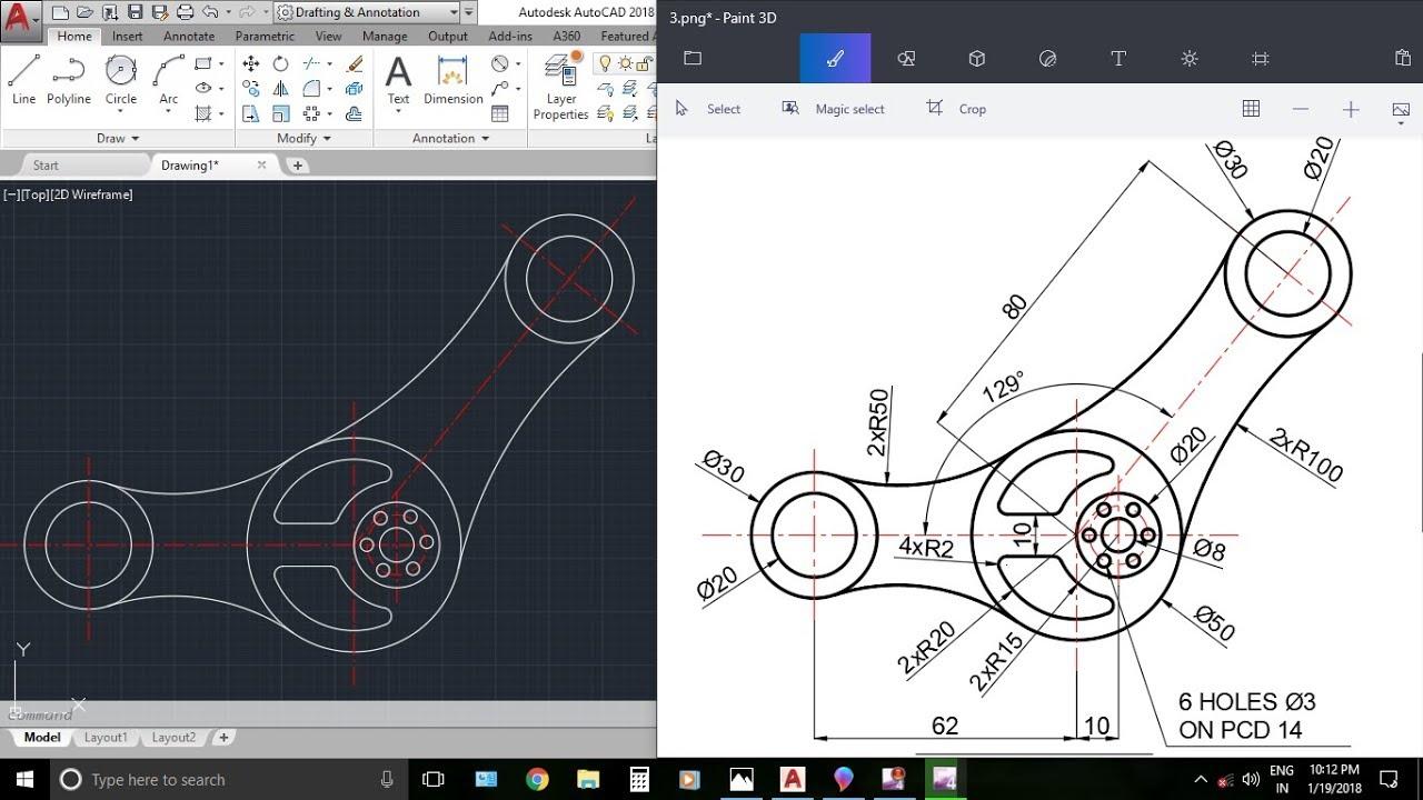 autocad 2d drawing tutorial pdf