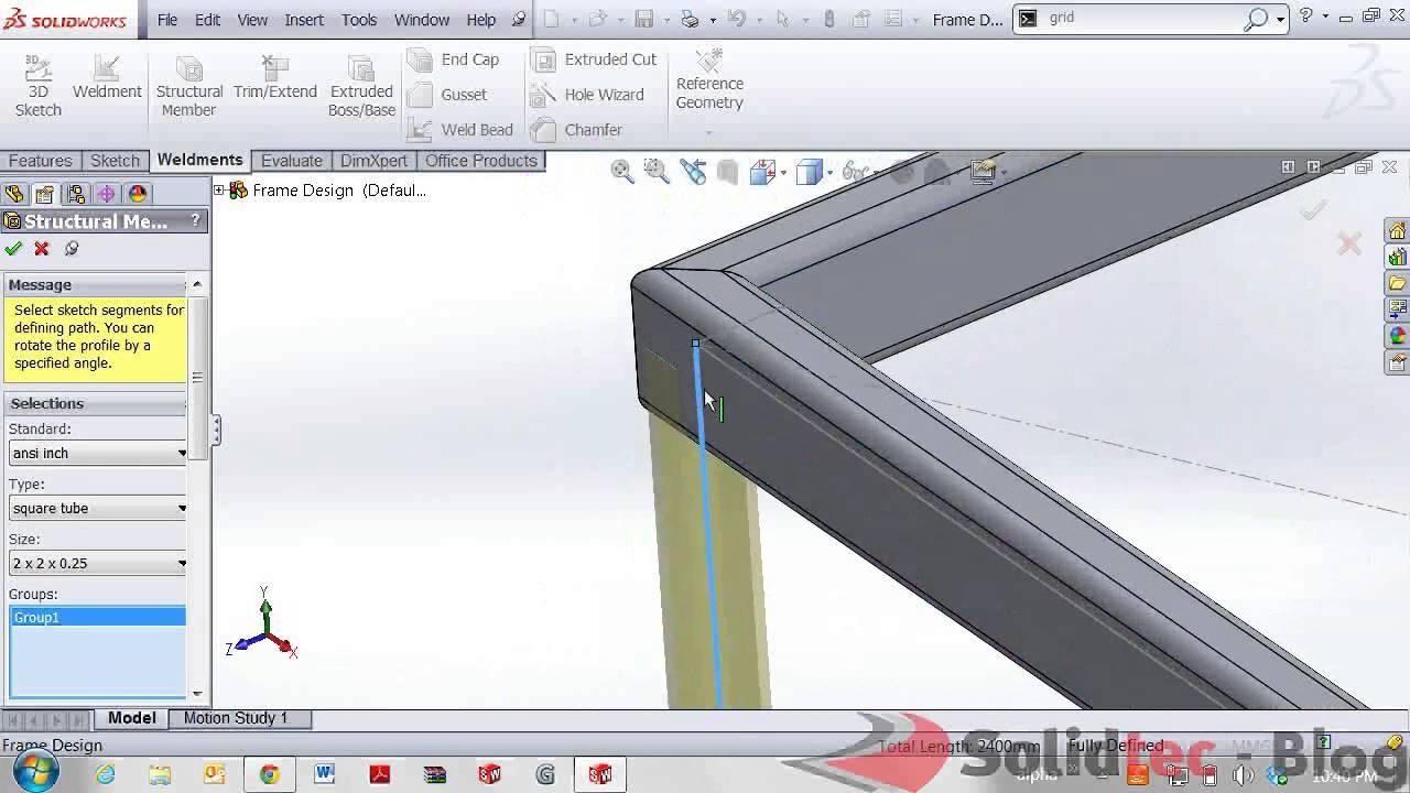 autodesk inventor frame generator tutorial