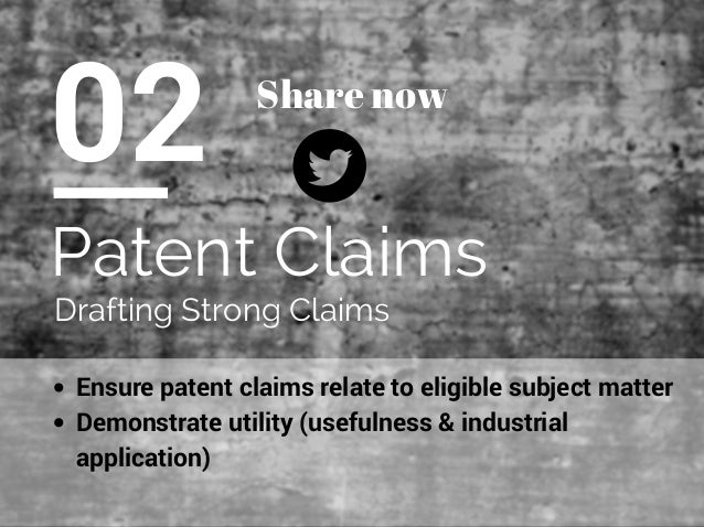writing patent claims tutorial