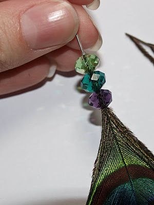 beaded peacock feather tutorial