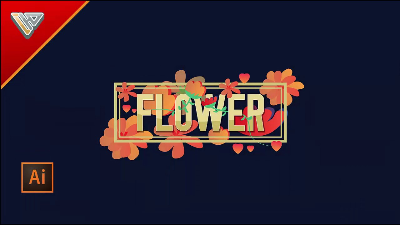 blend flower illustrator tutorial
