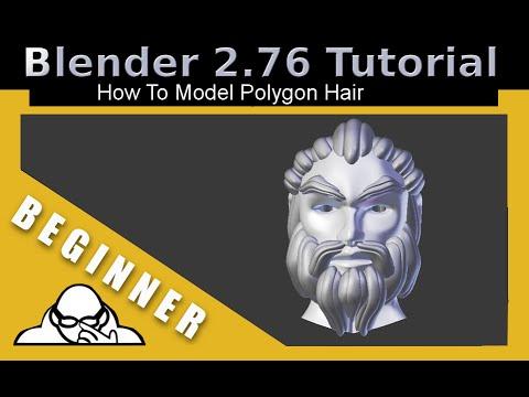 blender polygon hair tutorial