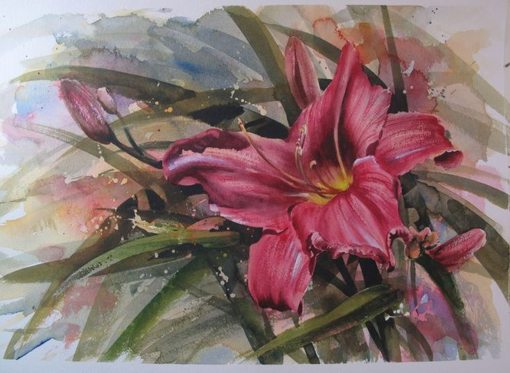botanical watercolor painting tutorial
