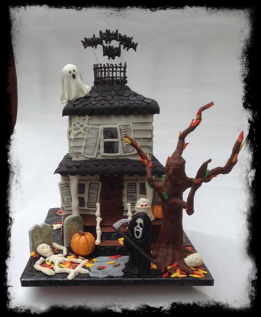 haunted house cake tutorial