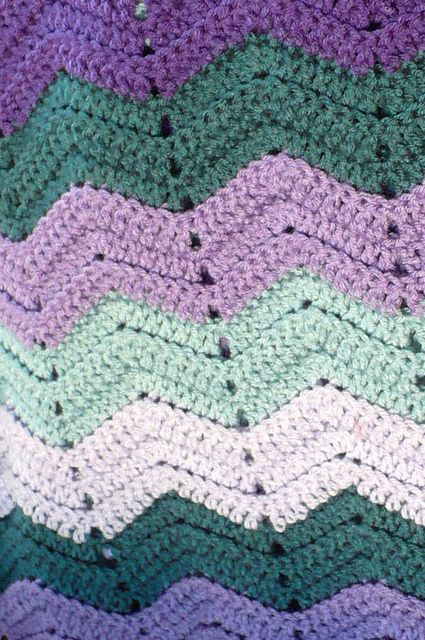 chevron baby blanket tutorial