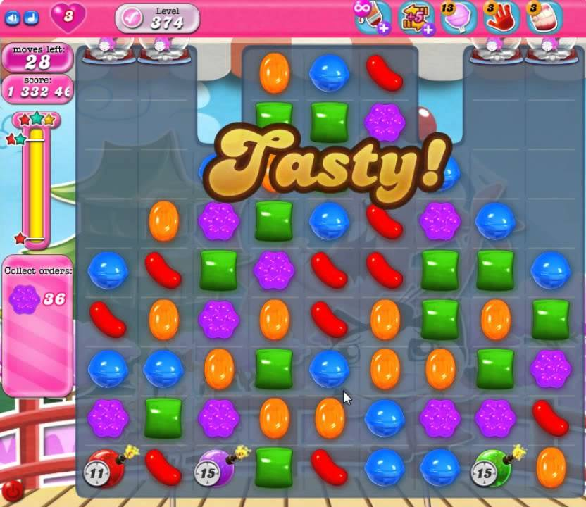 candy crush level 374 tutorial
