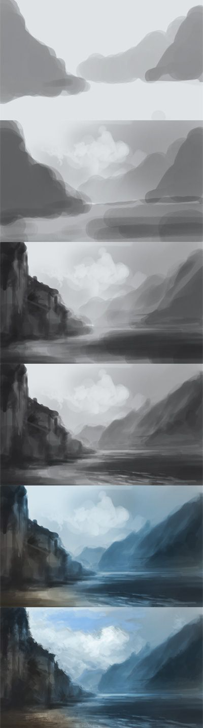 digital art scenery tutorial