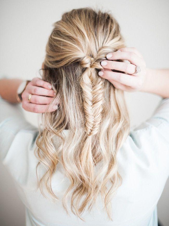 fish braid hair tutorial