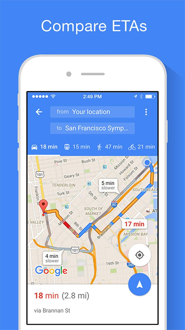google maps app iphone tutorial
