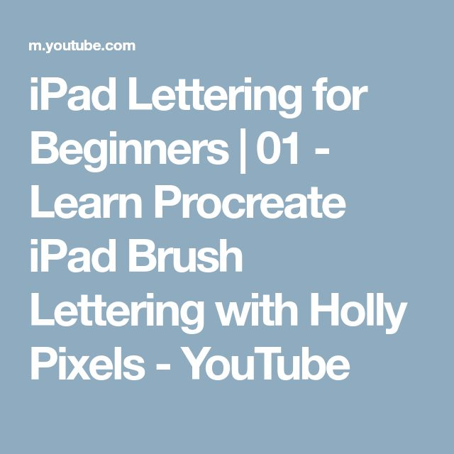 ipad pro tutorial for beginners