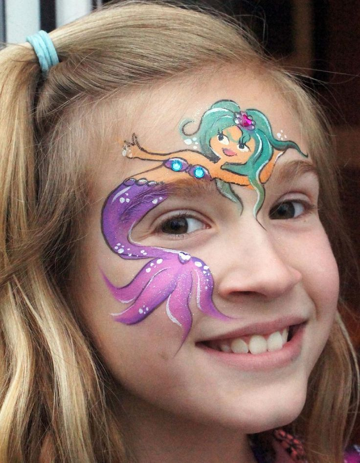 mermaid face paint tutorial