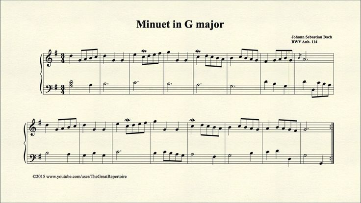 minuet in g major piano tutorial