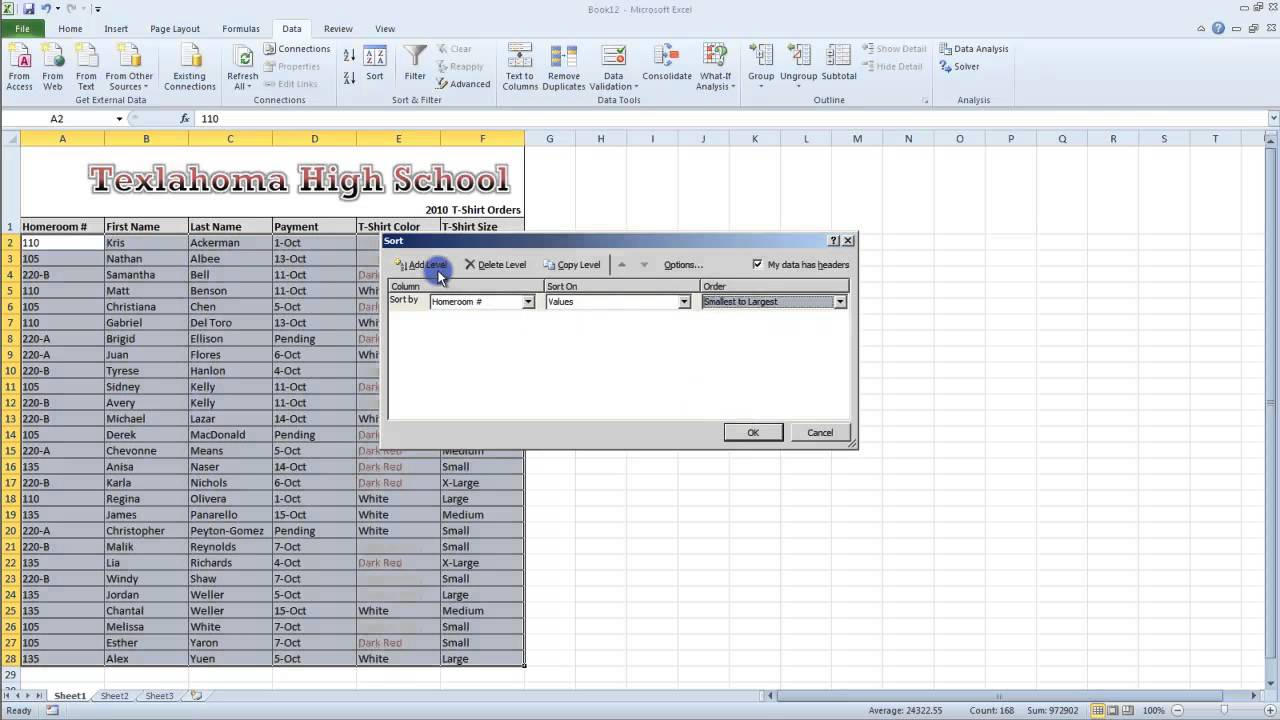 ms office excel 2010 tutorial