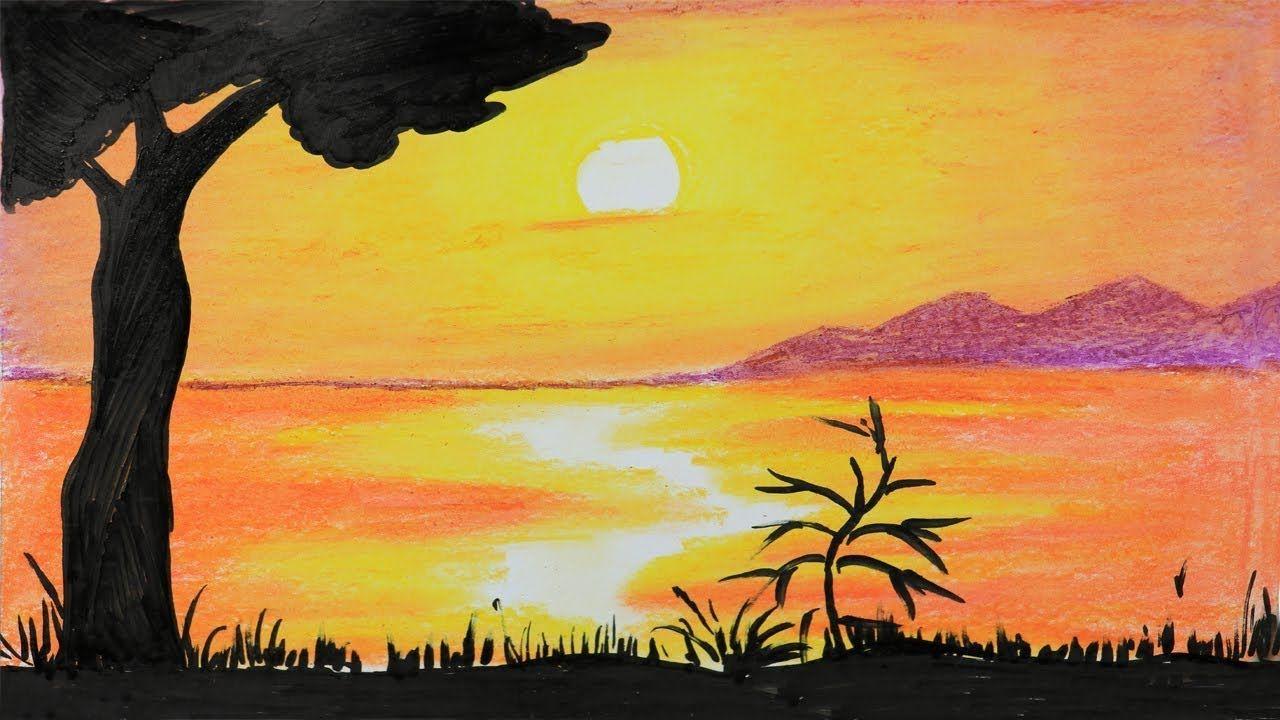 oil pastel painting tutorial step by step