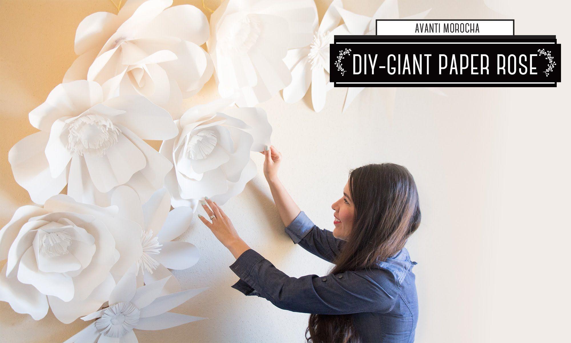 paper flower backdrop tutorial