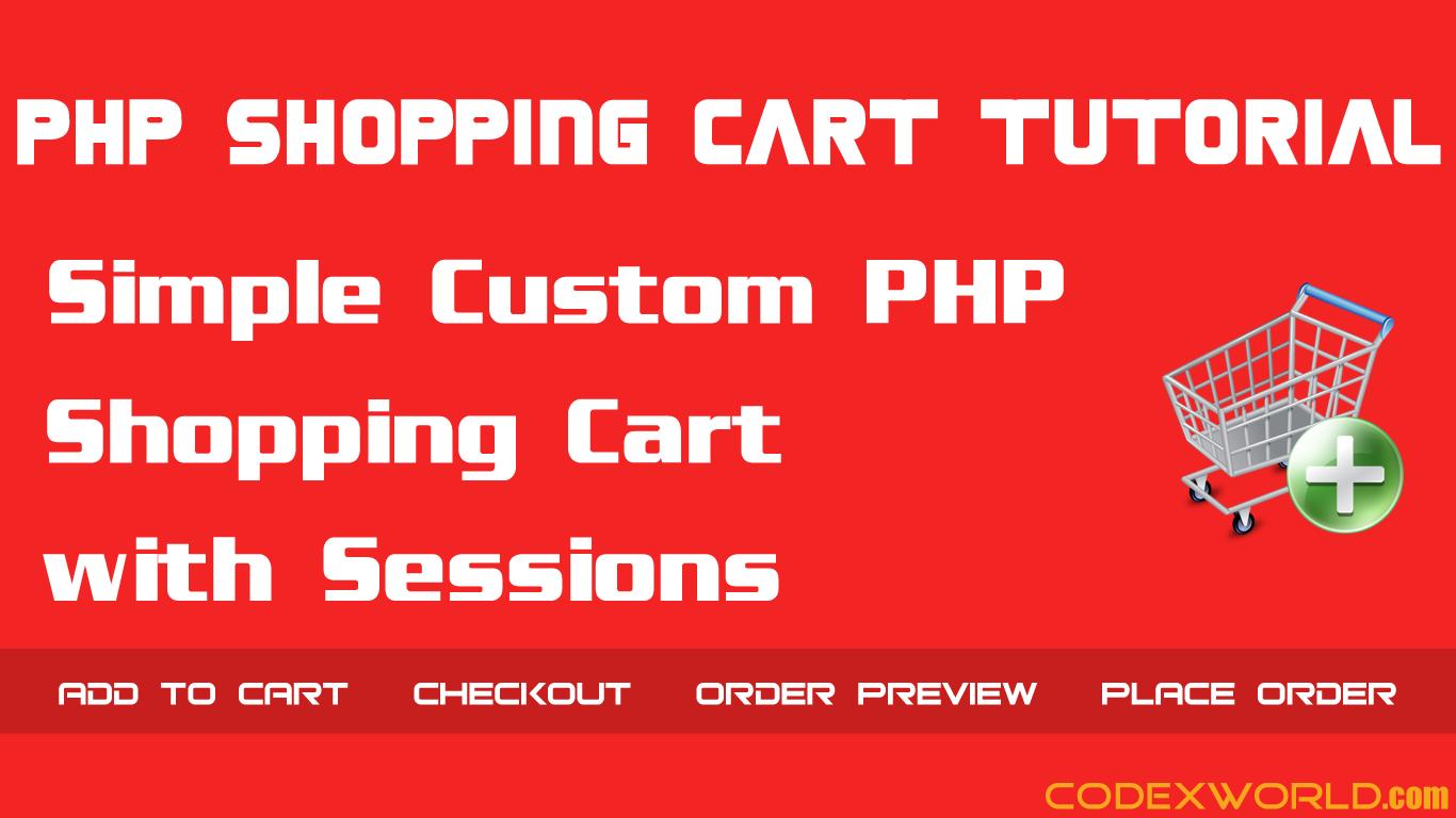 php shopping cart tutorial