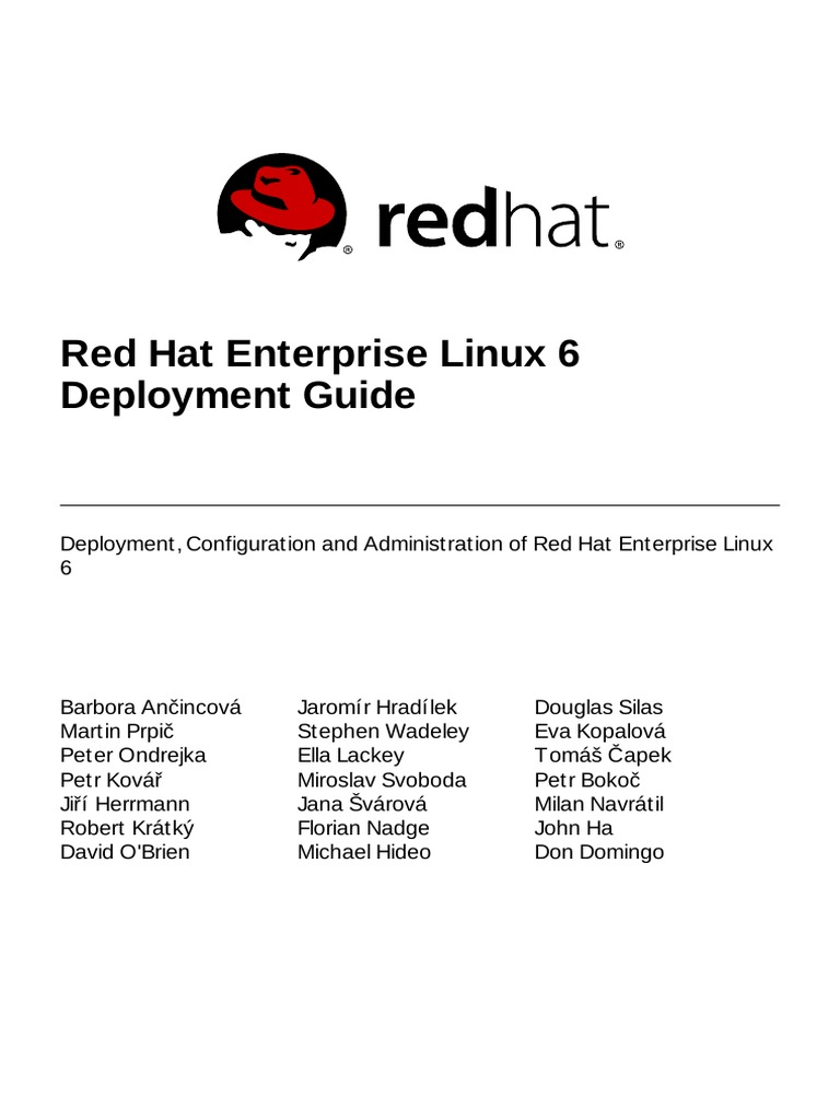 red hat enterprise linux 6 tutorial pdf free download