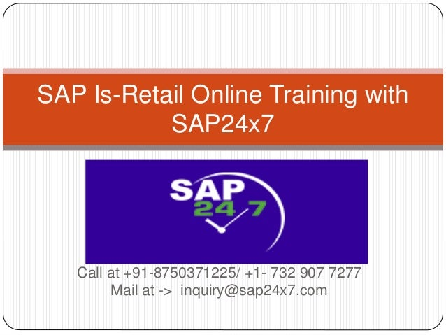 sap is retail tutorial