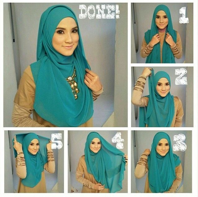 simple turban style hijab tutorial