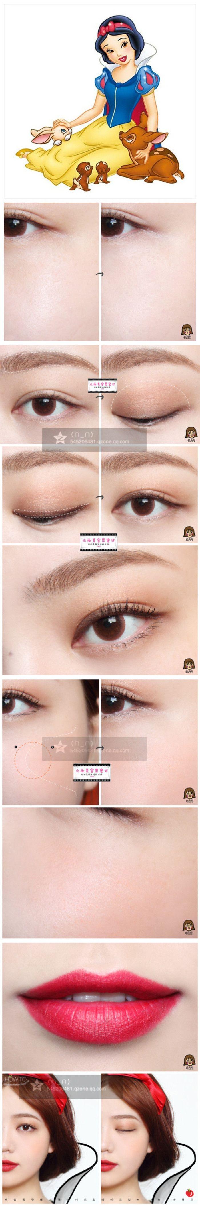 snow white makeup tutorial