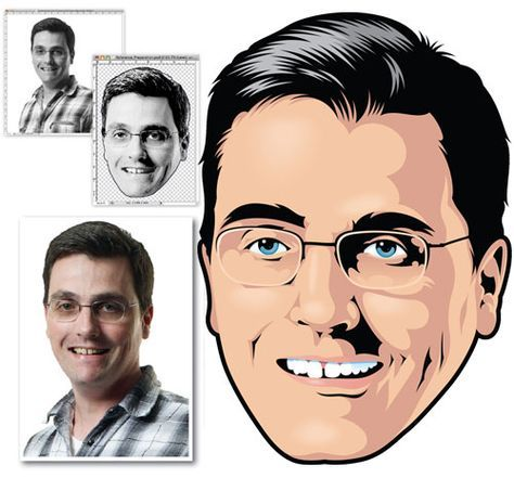 vector portrait tutorial photoshop