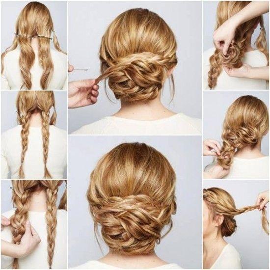 wedding updo tutorial for long hair